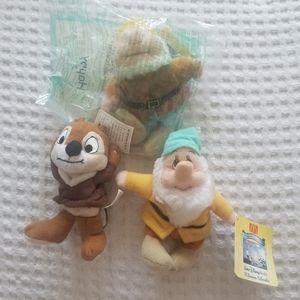 90s Disney McDonald's Gnomes Chipmunk Plushie Doll